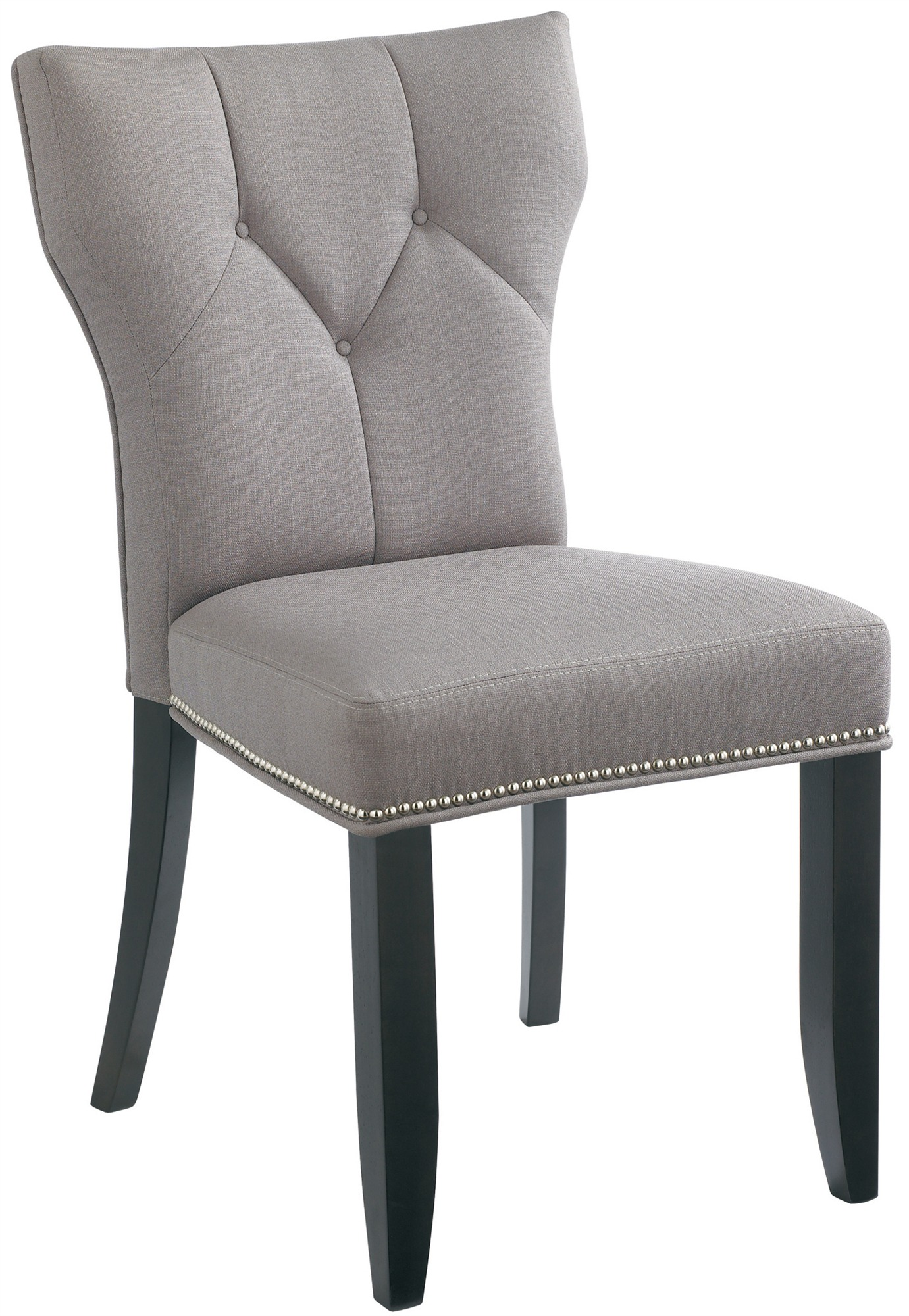 tufted wingback dining chair office mat for carpet room enchanting home