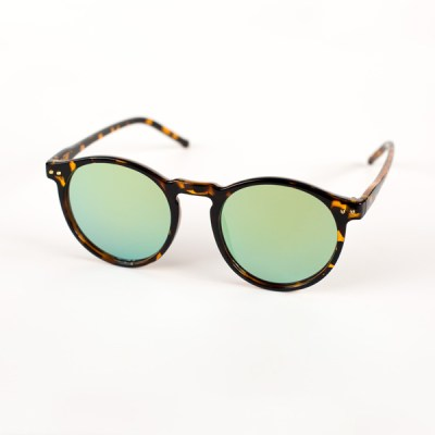 Leopard Frame Yellow Lens Sunglasses