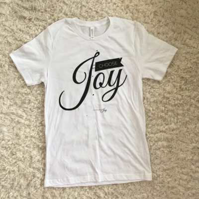 Choose Joy – White Tee