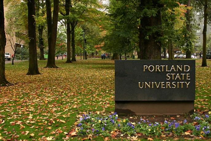 Entrance to Portland State University
