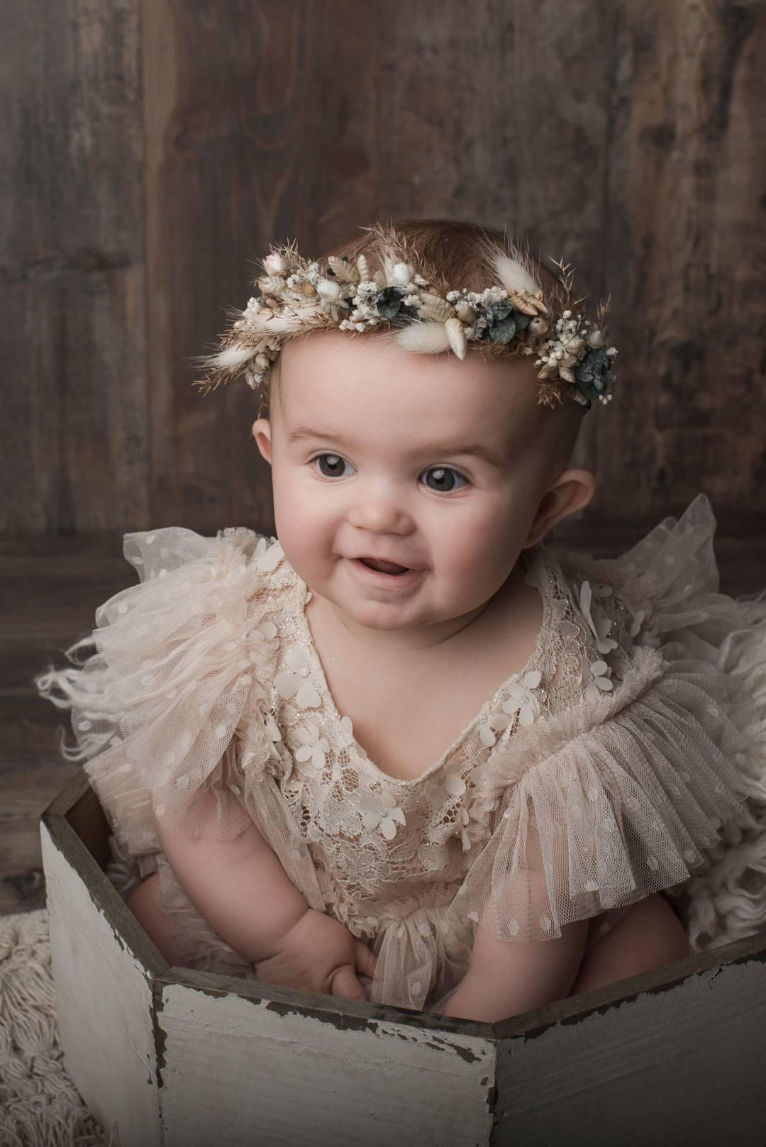 couronne fleurs bébé