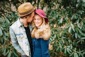 Asheville, North Carolina bohemian alternative wedding shot in the fall.