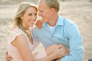 Keleher Jewelers sunset engagement session on the beach.