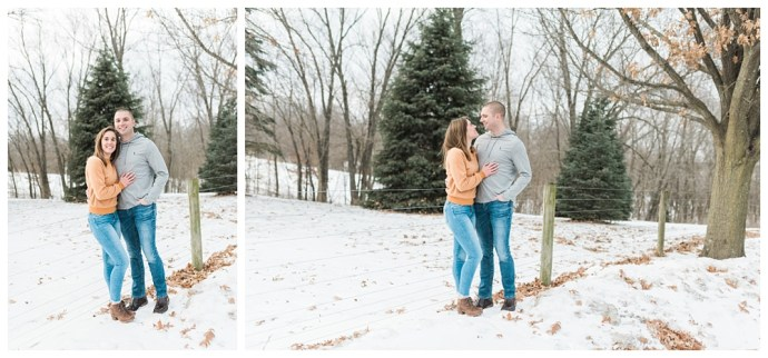 Stephanie Marie Photography Winter Engagement Session Iowa City Wedding Photographer Chelsey Justin_0014.jpg