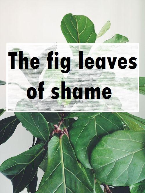 The fig leaves of shame - Genesis 3 // stephanieorefice.net