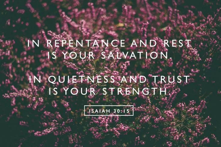 Isaiah 30:15 // stephanieorefice.net