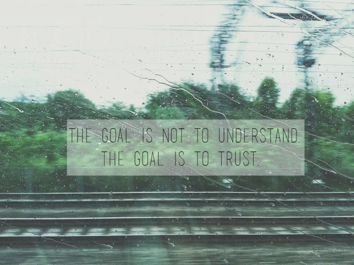 The goal isn't to understand, the goal is to trust // stephanieorefice.net