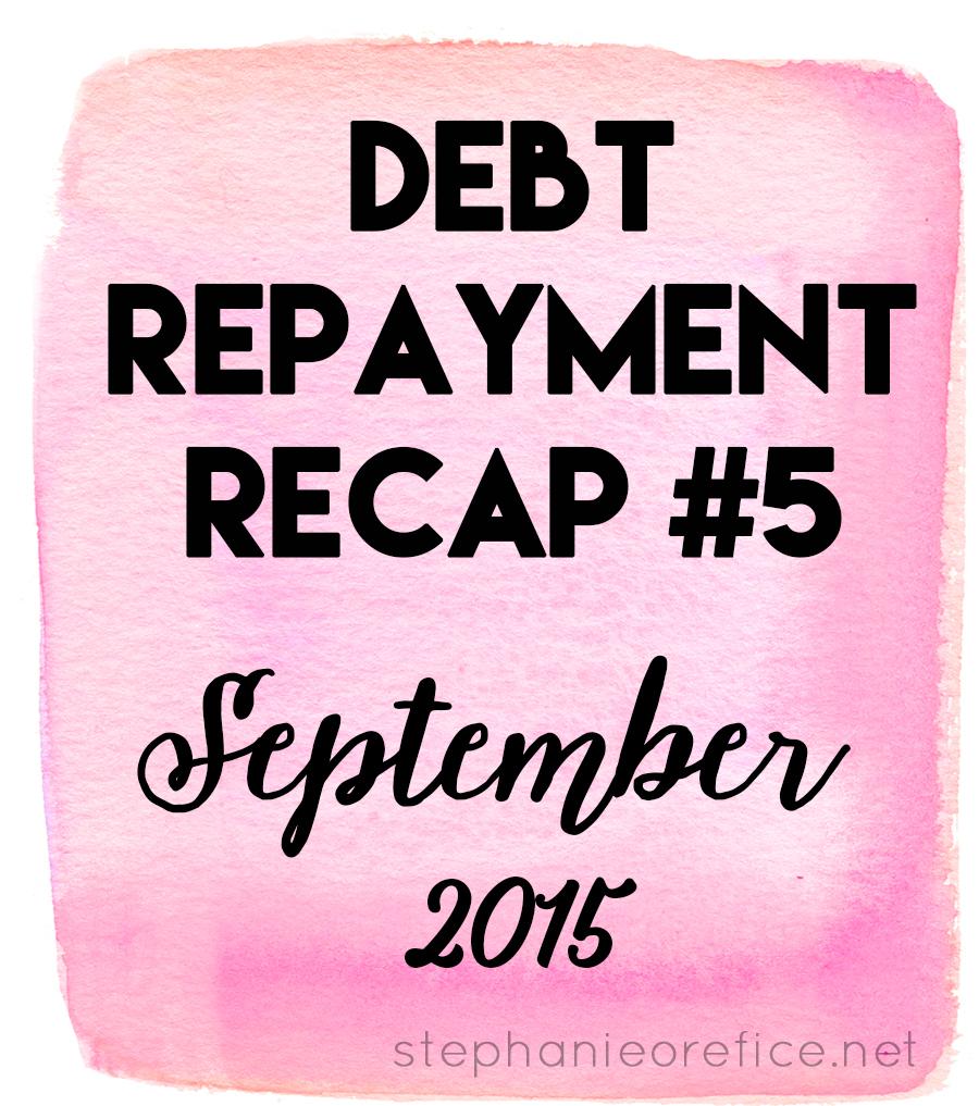 september debt repayment // stephanieorefice.net