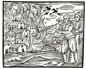 Burning down town Compendium Guazzo 1610