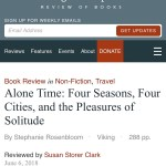 "The Washington Independent Review of Books: ""ALONE TIME"" Book Review"