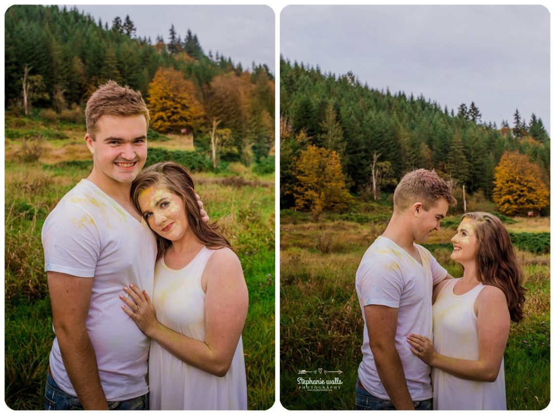 2017 01 19 1330 Engagement Color (Holi) Powder Fun | Nakashima Heritage Barn Arlington, Wa