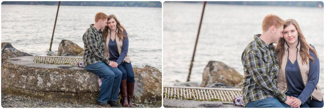 Sarah Brian 42 Rainy PNW Engagement | Mukilteo Lighthouse park | Mukilteo, WA