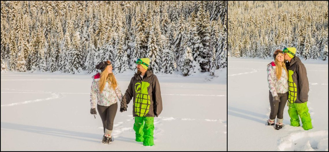 Patti Bob 42 GOLD CREEK POND WINTER ENGAGEMENT PORTRAITS | PATTI & BOB