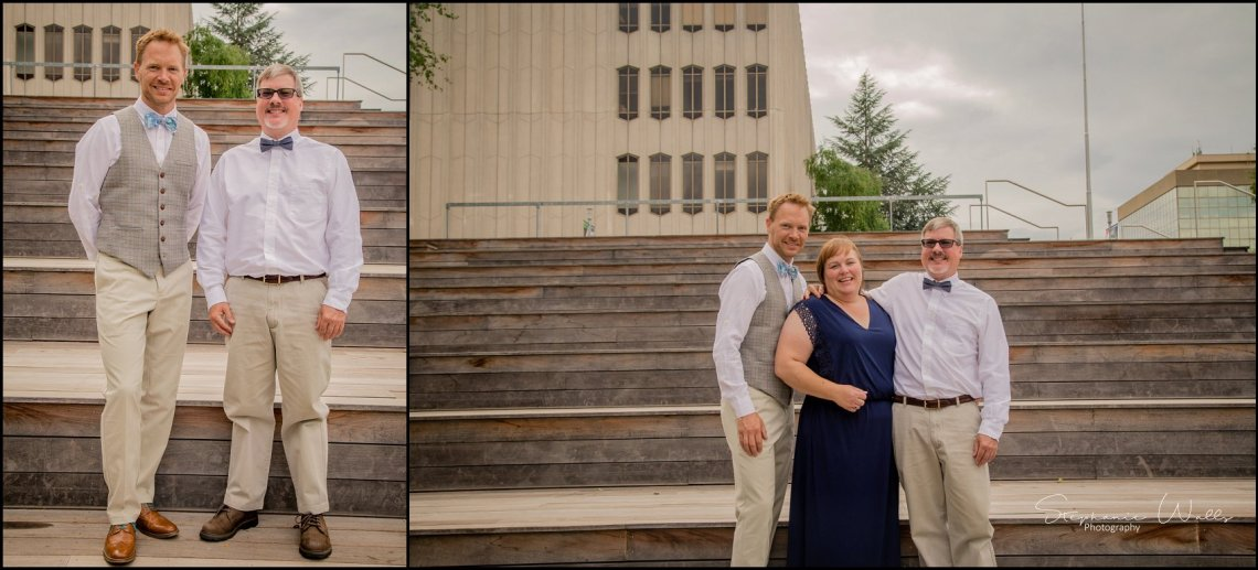 Hall Elopement034 Candace & Matthews Sweet Everett Court House Wedding Ceremony | Everett, Wa