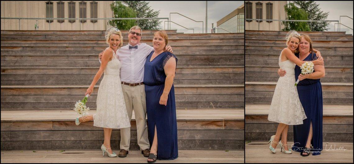 Hall Elopement041 Candace & Matthews Sweet Everett Court House Wedding Ceremony | Everett, Wa