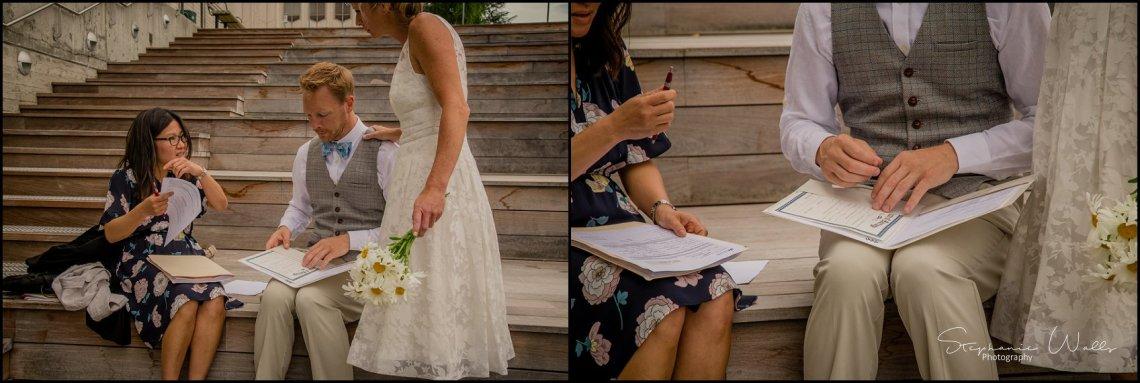 Hall Elopement047 Candace & Matthews Sweet Everett Court House Wedding Ceremony | Everett, Wa