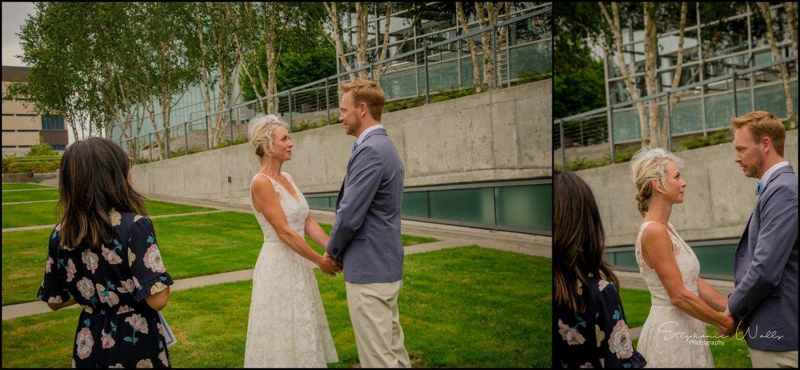 Hall Elopement054 Candace & Matthews Sweet Everett Court House Wedding Ceremony | Everett, Wa