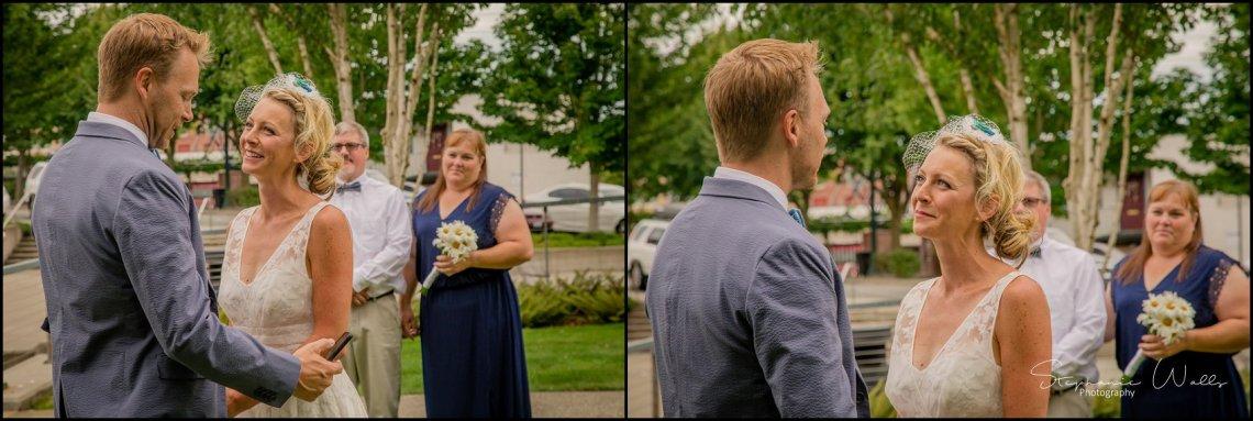 Hall Elopement064 Candace & Matthews Sweet Everett Court House Wedding Ceremony | Everett, Wa
