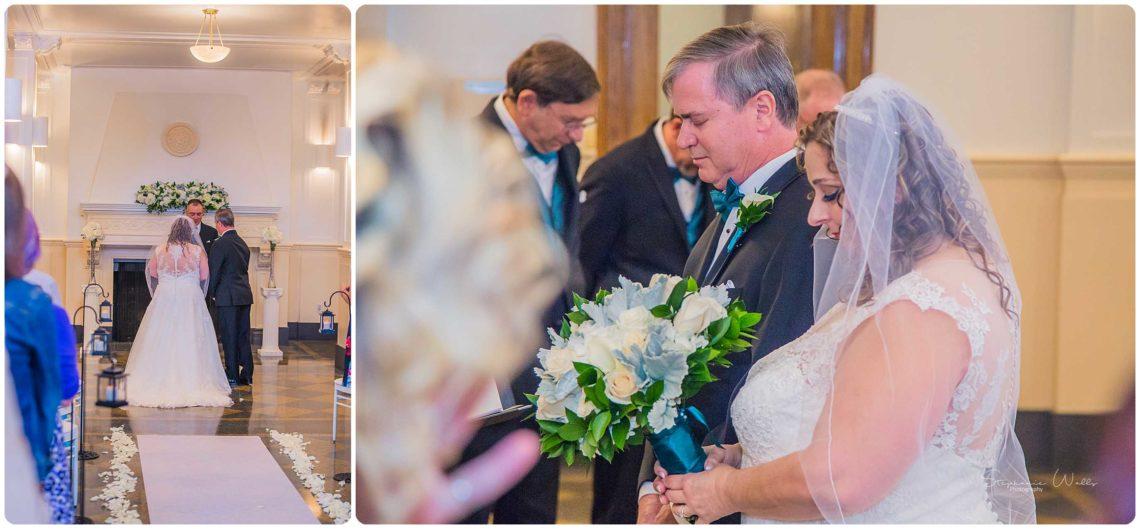Ceremony 085 Black & Teal | Monte Cristo Ballroom Wedding | Everett Wedding Photographer