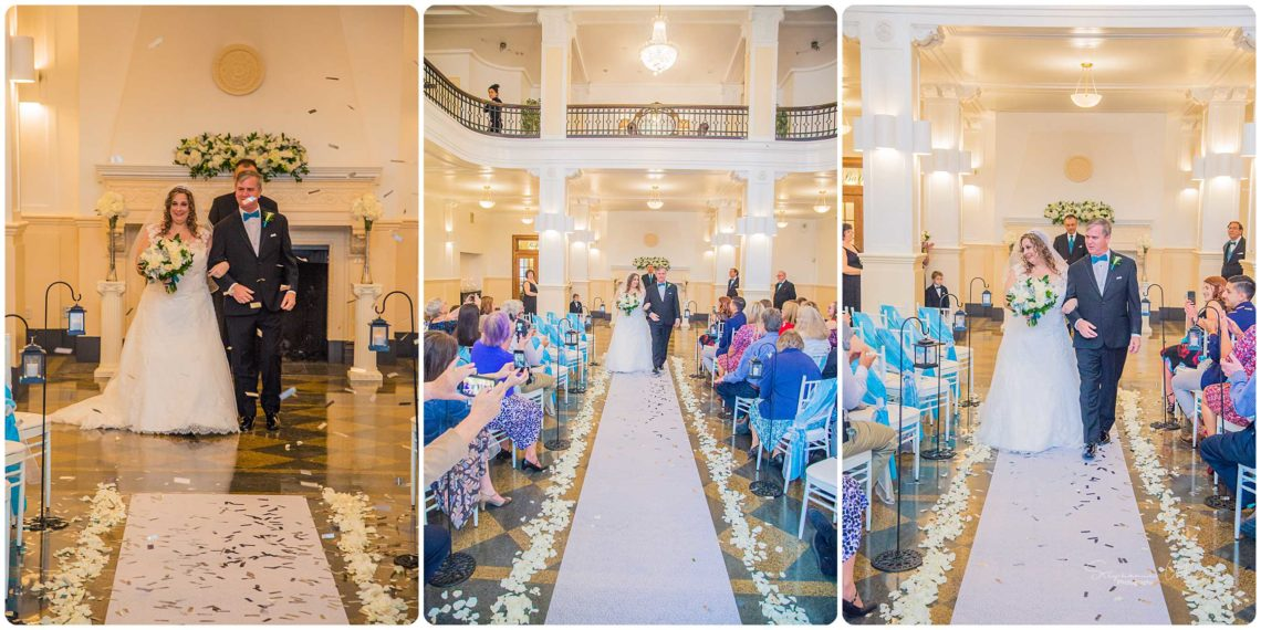 Ceremony 182 Black & Teal | Monte Cristo Ballroom Wedding | Everett Wedding Photographer