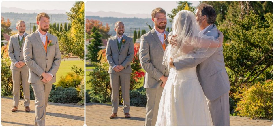 Mingling Ceremony 092 950x441 Autumn Love | Olympic View Estates Wedding | Lake Stevens Wedding Photographer