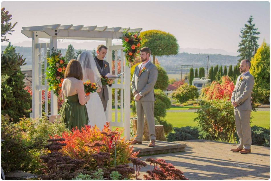 Mingling Ceremony 117 950x636 Autumn Love | Olympic View Estates Wedding | Lake Stevens Wedding Photographer