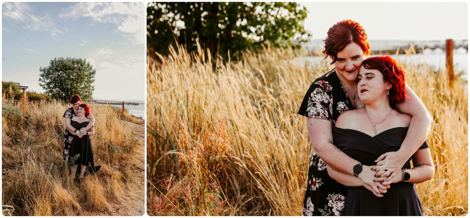 Stephanie Walls Photography 1223 950x441 Edmonds Beach Park Engagement Session with Kristy and Kat
