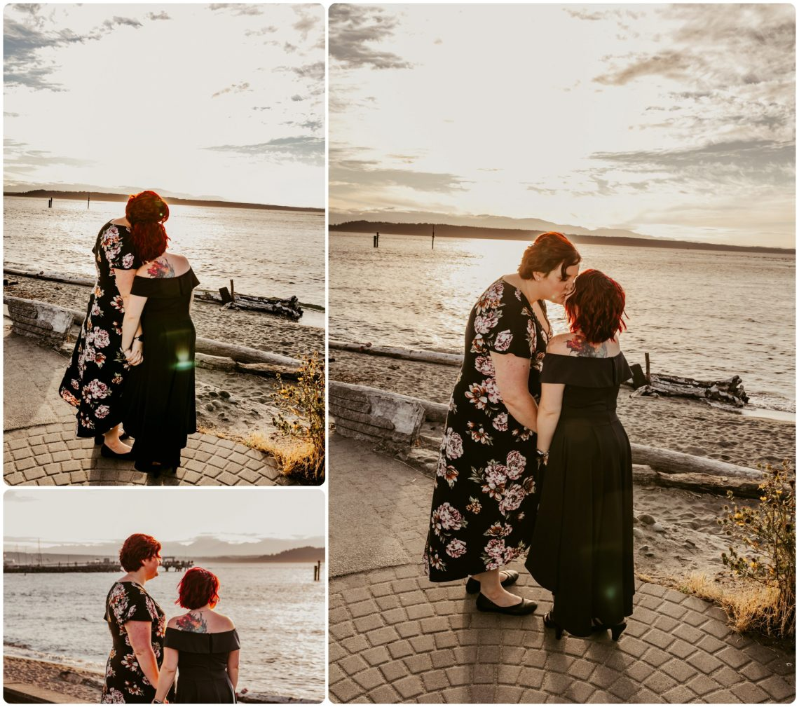 Stephanie Walls Photography 1226 scaled Edmonds Beach Park Engagement Session with Kristy and Kat