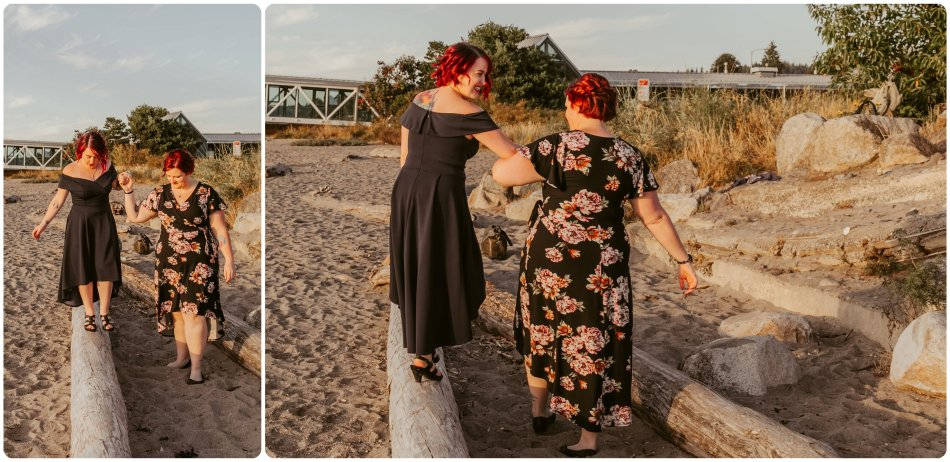 Stephanie Walls Photography 1234 950x462 Edmonds Beach Park Engagement Session with Kristy and Kat