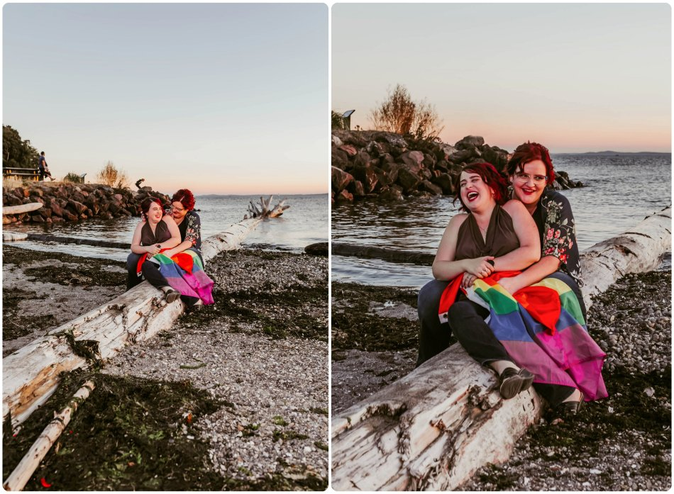 Stephanie Walls Photography 1245 950x697 Edmonds Beach Park Engagement Session with Kristy and Kat