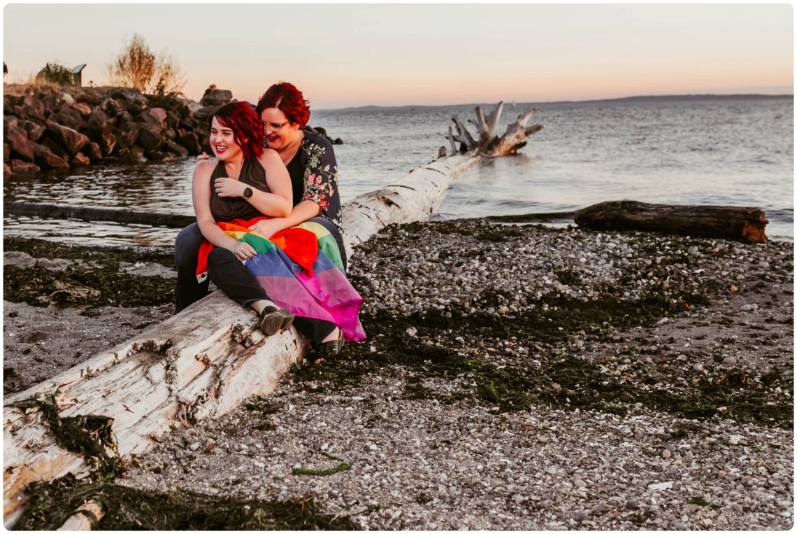 Stephanie Walls Photography 1247 scaled Edmonds Beach Park Engagement Session with Kristy and Kat
