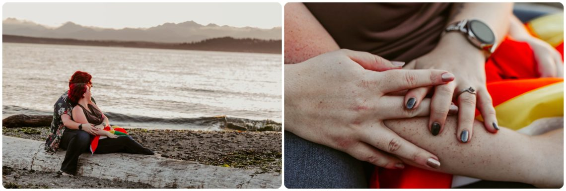 Stephanie Walls Photography 1250 scaled Edmonds Beach Park Engagement Session with Kristy and Kat