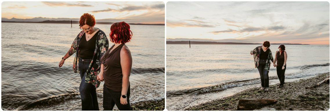 Stephanie Walls Photography 1255 scaled Edmonds Beach Park Engagement Session with Kristy and Kat