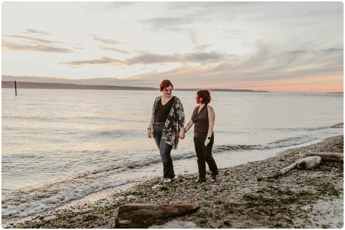 Stephanie Walls Photography 1256 scaled Edmonds Beach Park Engagement Session with Kristy and Kat