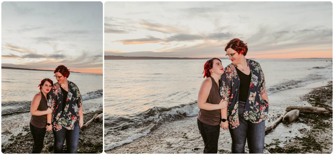 Stephanie Walls Photography 1258 scaled Edmonds Beach Park Engagement Session with Kristy and Kat