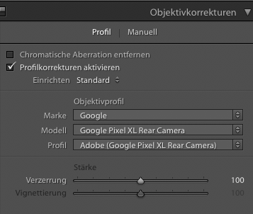 Lightroom kennt das Pixel