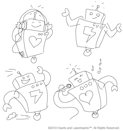sneak peek of the new robot poses! • Steph Calvert Art