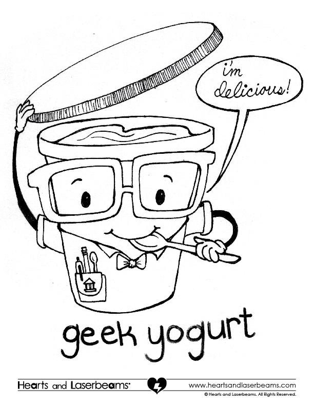 Geek Yogurt Coloring Contest • Steph Calvert Art