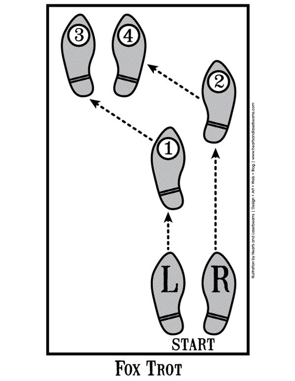 hustle dancing step diagrams