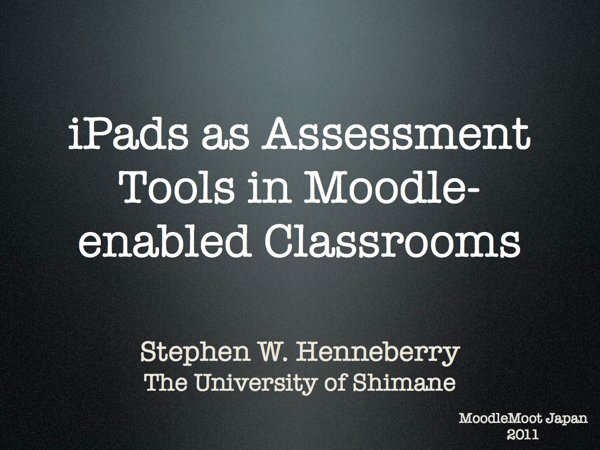 iPads and Moodle