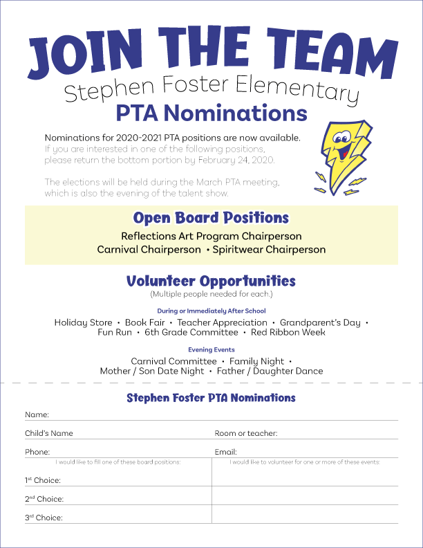 20-21 PTA Nominations Flyer