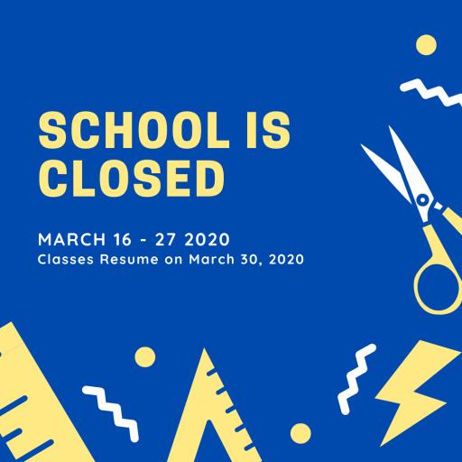 School Closed March 2020