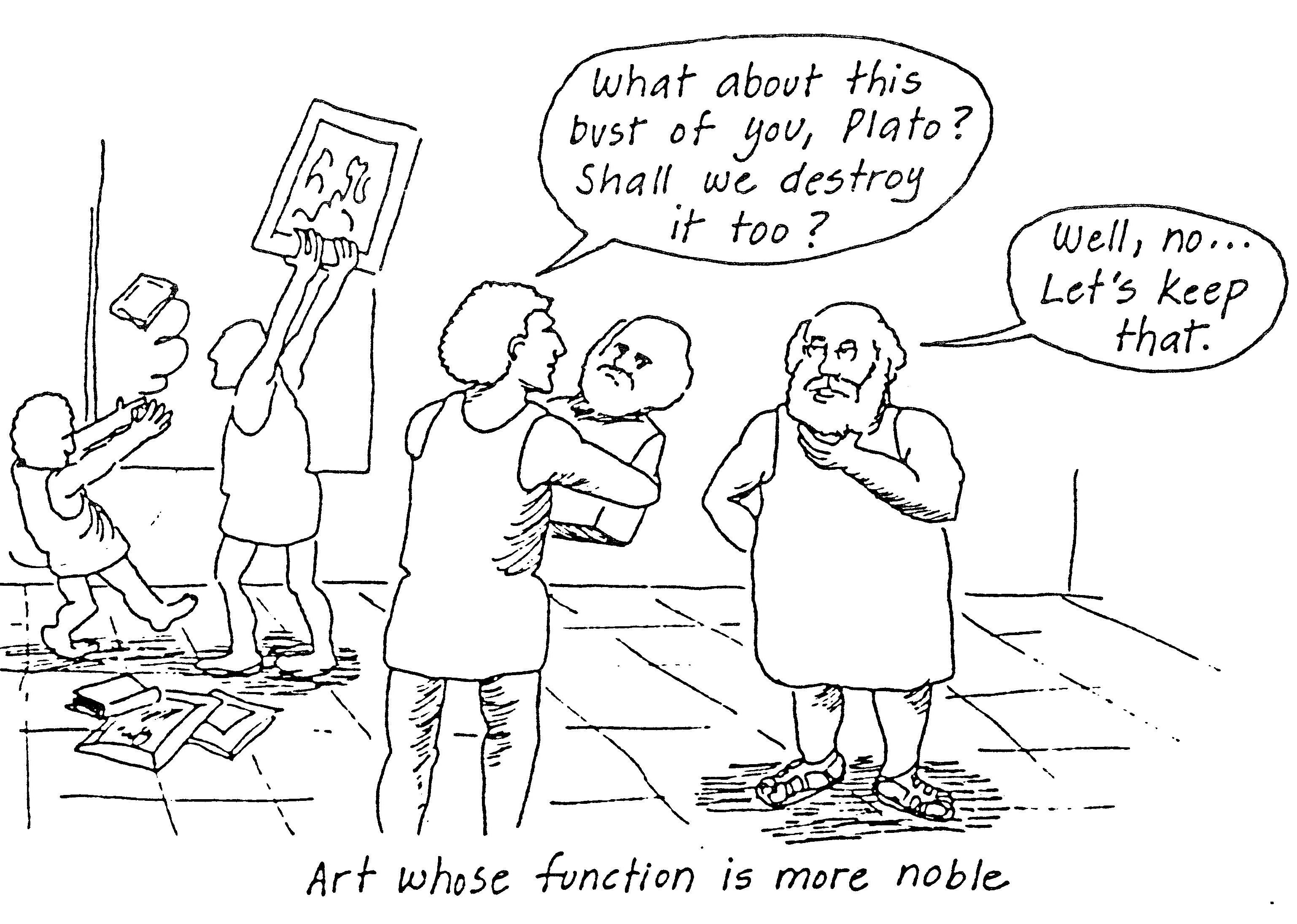 Plato and art that is more noble