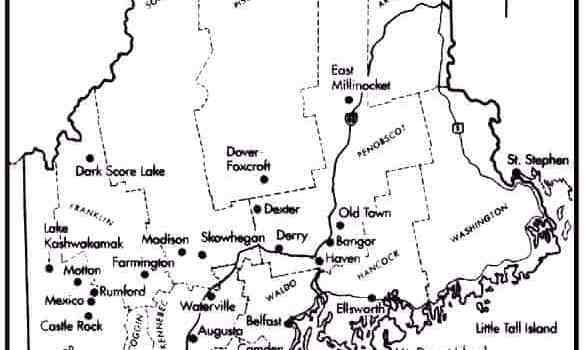 Vous retouverez sur la carte ci-dessous certaines de ces villes, placées par Stephen King lui-même, et tirée des livres JESSIE et DOLORES CLAIBORNE
