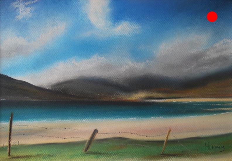 Isle of Harris beach, Scotland, painting by Stephen Murray
