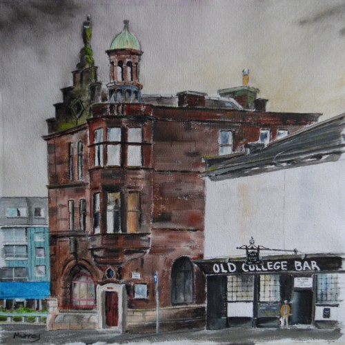 Old College Bar, Glasgow. Painting by Scottish artist Stephen Murray