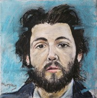Paul McCartney painting. Stephen Murray art