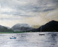 Boats off Bute Stephen Murray Art