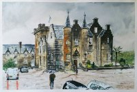 Stonefield castle painting by Stephen Murray Art