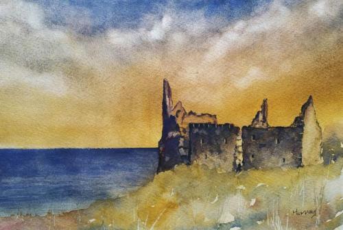 Outlander Dunure Castle Stephen Murray Art